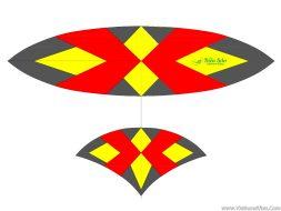 Áo diều may phối 3 màu đuôi cá dáng Thái Bình